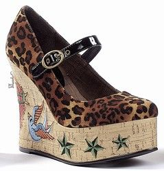 tattoo shoes rockabilly shoes leopard shoes. Have these love them.