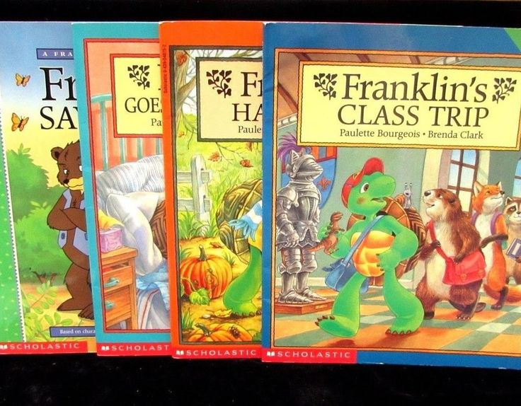 4 Franklin Turtle Books Class Trip Halloween Hospital