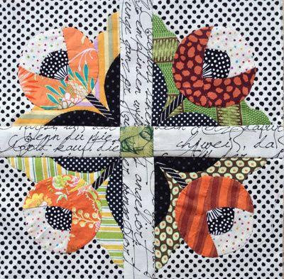 Un patchwork, blocs fleuris appliqués, et en vidéos - Elkalin.Couture,broderie main machine