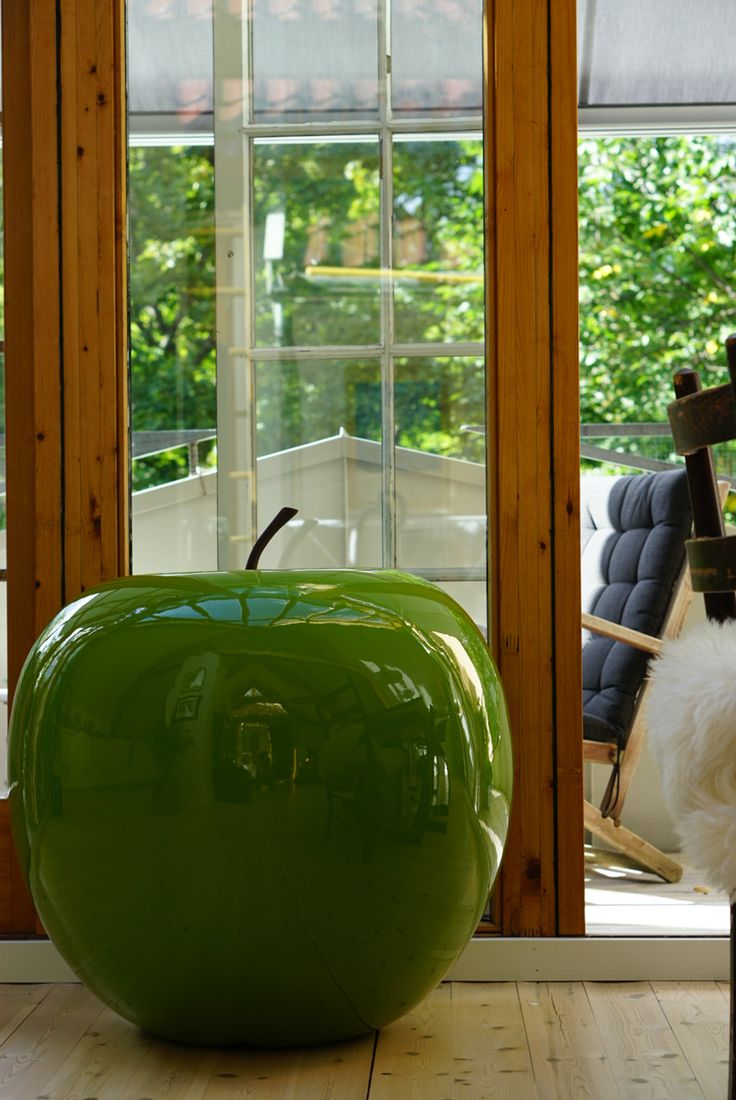 Interior with apple.