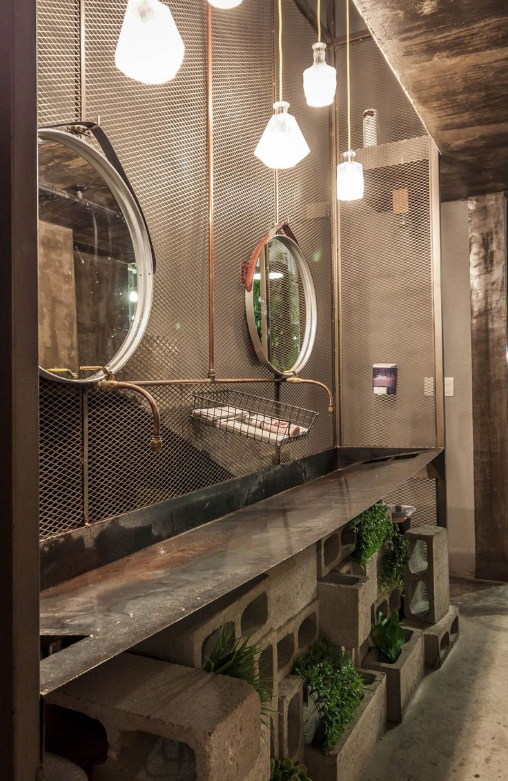 25 best industrial bathroom ideas on pinterest - Decoracion industrial vintage ...