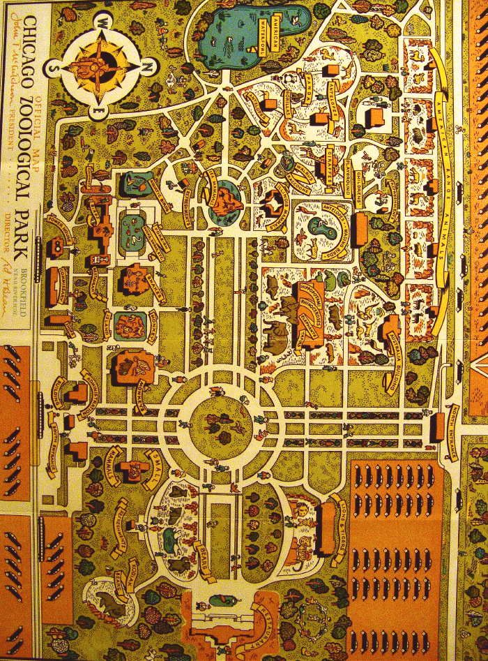 Old Brookfield zoo map 2 Maps Pinterest
