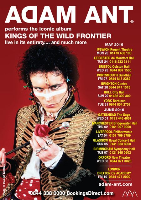 Kings of the Wild Frontier tour 2016