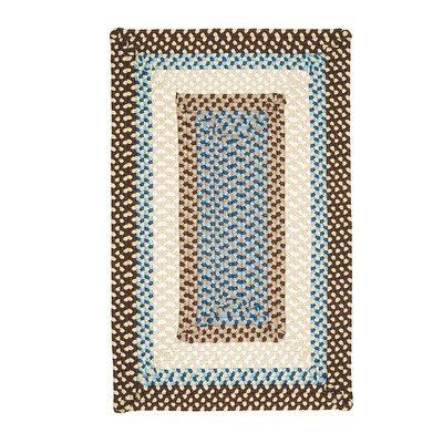 Montego Border Bright Brown Kids Rug Size: 5' x 8' by Colonial Mills. $248.00. Stain Resistant. Fade Resistant. 100 Polypropylene. Reversible. MG89R060X096R Size: 5' x 8' Features: -Technique: Braided.-Material: 100pct Polypropylene.-Origin: USA.-Use for indoor / outdoor.-100pct Reversible.-Stain resistant.-Fade resistant. Construction: -Construction: Handmade. Color/Finish: -Primarily bright brown rug with celery, blue and linen accents. Dimensions: -Pile height: 0.5'...