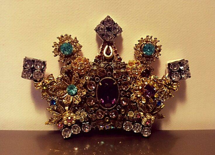 Jeweled crown from vintage family jewelry