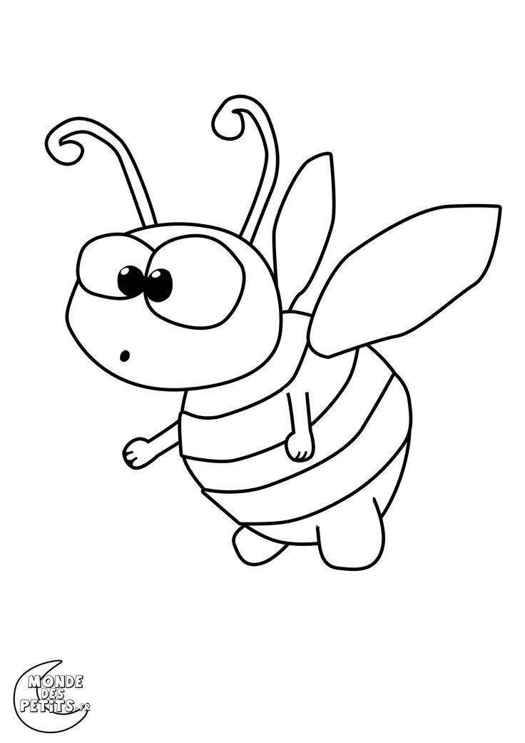 Les 25 meilleures id es de la cat gorie coloriage abeille - Abeille coloriage ...