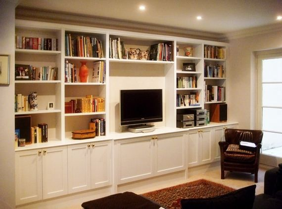 Built In Furniture Ideas: Made To Measure Bookcases For Lounges