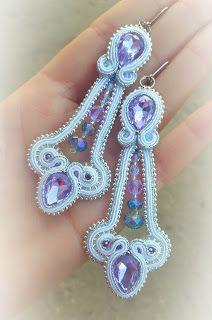 biżuteria soutache, haft koralikowy, torby z filcu: Fiolet