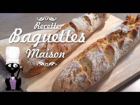 Comment faire des baguettes de pain maison - YouTube