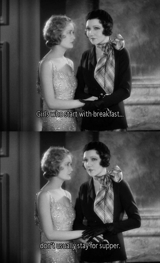 "Miriam Hopkins and Claudette Colbert in the pre-code movie ""The Smiling Lieutenant"", 1931"
