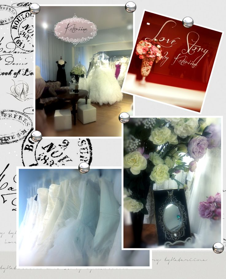 Our wedding dress shop Morsiusateljee Katariina at Oulu at Finland