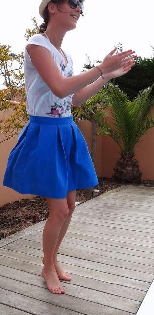 Le petit monde de J.: La jupe bleue de l'été: le tuto!                                                                                                                                                                                 Plus