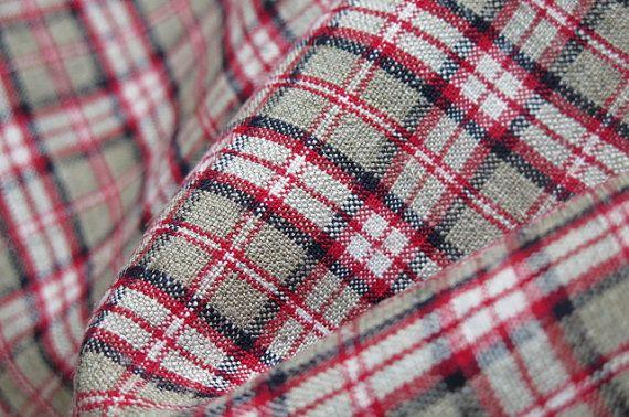 Original um 1860/90  handgewebter Bauern von Linenandtextiles19th