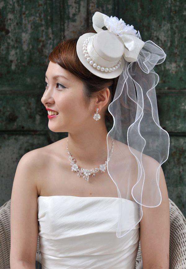 ヘッドドレス(髪飾り)【ウェディングハット】 レティシア