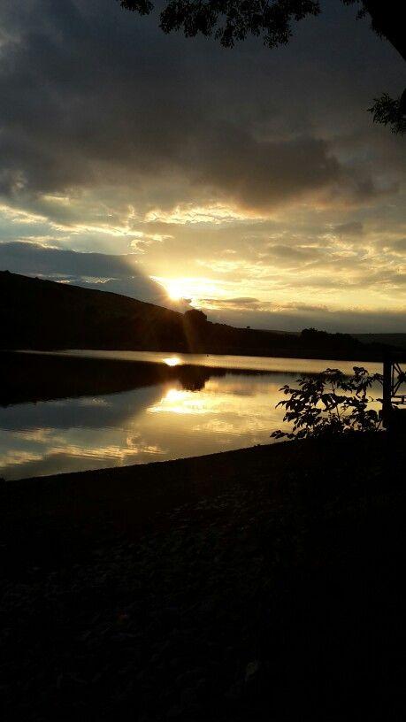 Combs reservoir at dusk. Opposite where I live