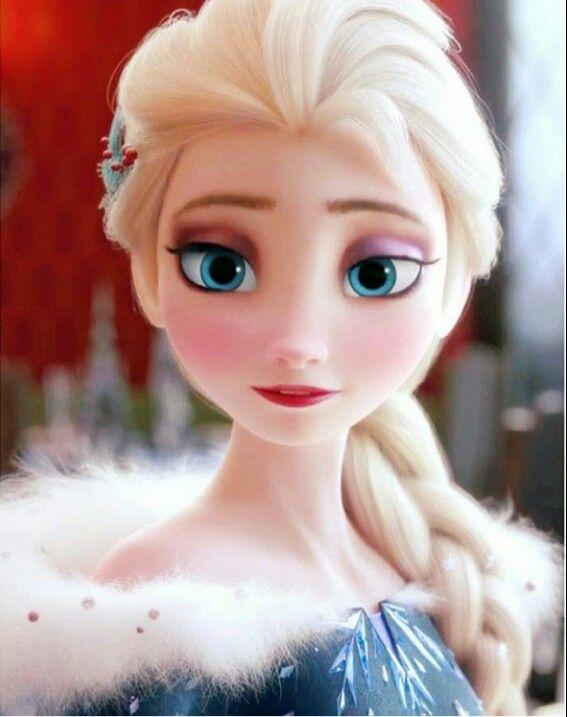Elsa in her new beautiful dress from Olaf's Frozen Adventure short