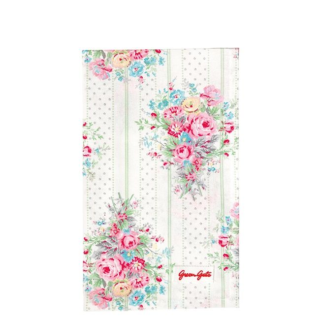 GreenGate Teatowel Amelie White 50 x 70 cm | NEW! GreenGate Spring/Summer 2014 | Originated-Shop