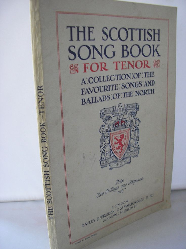 The Scottish Song Book for Tenor a collection of favourite songs and ballads sheet music lyrics rare 1920s bound music book from Scotland by IrishBarnVintage on Etsy