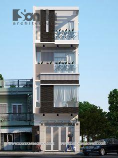 Phối cảnh ngoại thất nhà ống, nhà lô phố Long Biên đẹp | Mẫu nhà ...