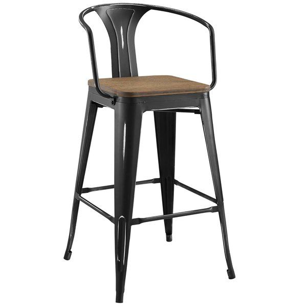 Ashlyn 30 Powder Coated Steel Bar Stool Steel Bar Stools Bar