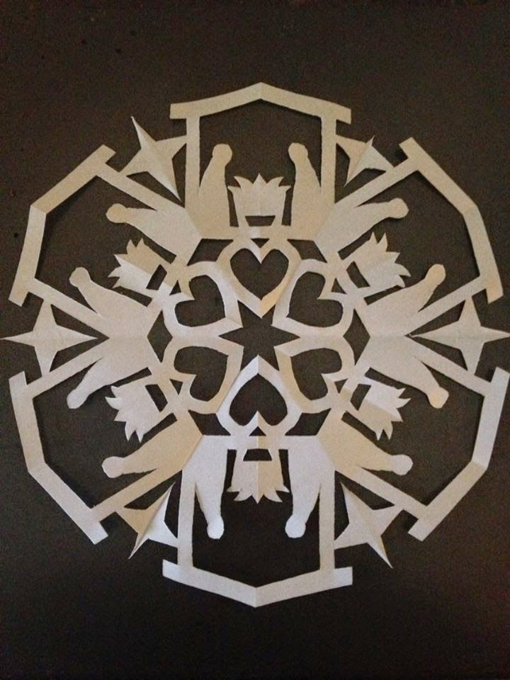 """Activity: 2014 Primary Song Snowflakes. This is a nativity snowflake for """"He Sent His Son"""""""