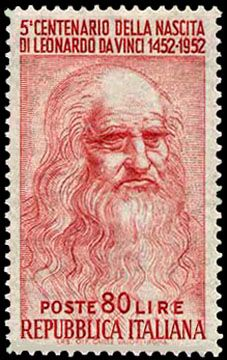 Leonardo de Vinci, 1452-1519,  Italian painter, engineer, musician, and scientist