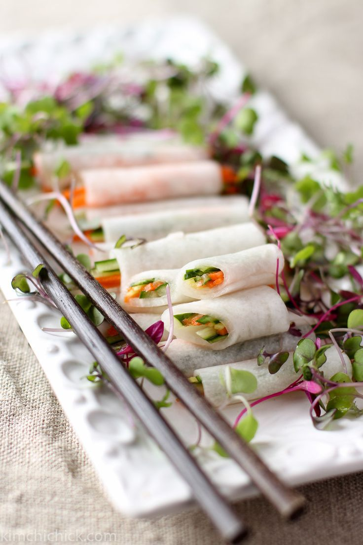 Serve these refreshing, tangy, and crunchy Korean white radish wraps with fried fish or grilled meats for a cool, cleansing bite.