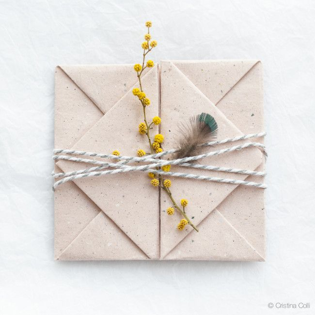 ... DIY origami envelope ...