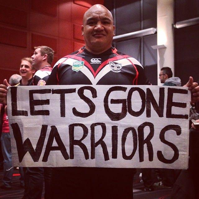 The original #LetsGoneWarriors man Tyson Elia at the Vodafone Warriors members function in Brisbane #WarriorsForever #Brisbane #Sign #LetsGone #Warriors