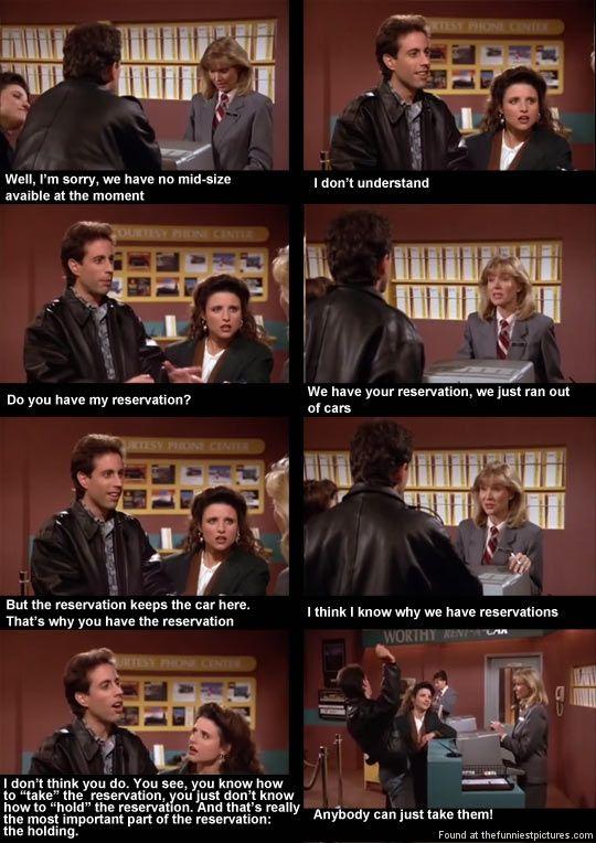 Rental Car Reservation Seinfeld