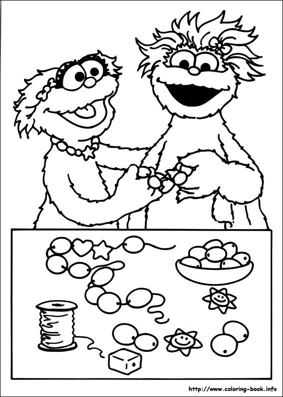 zoe sesame street coloring pages - photo#13