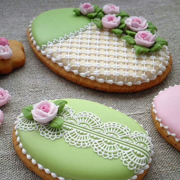 Intricate Easter Egg Cookies