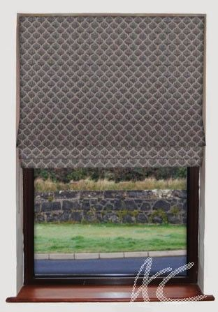 Clarke and Clarke Cadoro Deco Charcoal Roman Blind