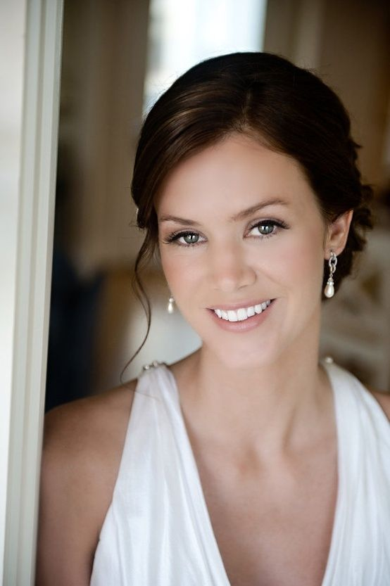 Naturally gorgeous wedding makeup- highlight eyes a little ...