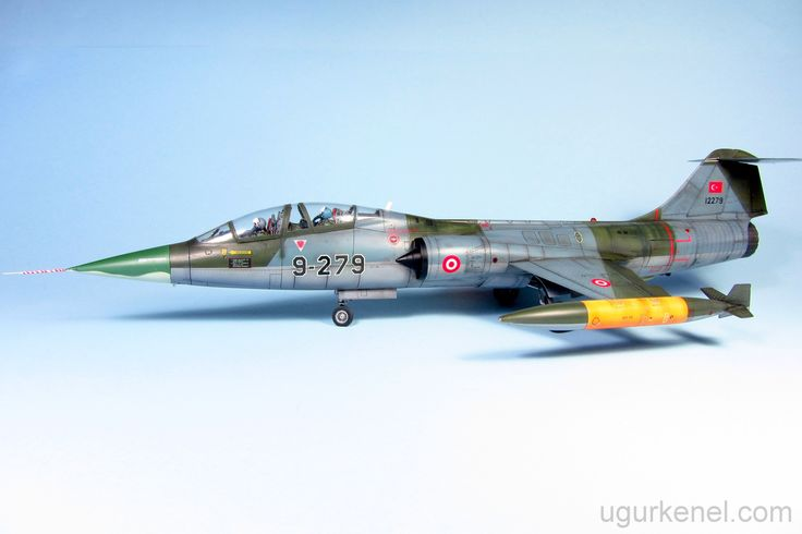 This kit is 1/48 scale, 07240 box numbered Hasegawa TF-104 Starfighter. Very precise and sharp engraved panel lines in my opinion. There are two type exhaust and inside well detailed. Landing gear ...