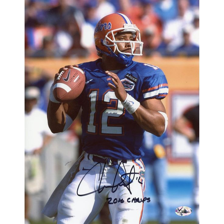 "Chris Leak Florida Gators Fanatics Authentic Autographed 8"" x 10"" Throw Black Ink Photograph with Champs Inscription"