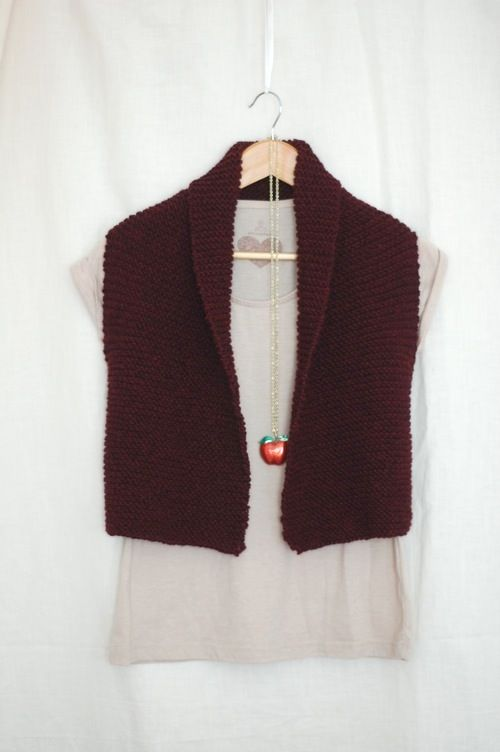 A square and a rectangle...easy enough.  http://www.laylock.org/blog/2012/10/coze-easy-knit-vest-pattern/