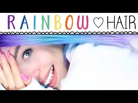 Ich bekomme REGENBOGEN HAARE ♡ BibisBeautyPalace - YouTube