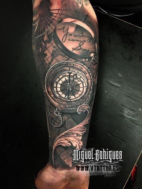 Tatuaje brujula compass - Miguel Bohigues - Vtattoo