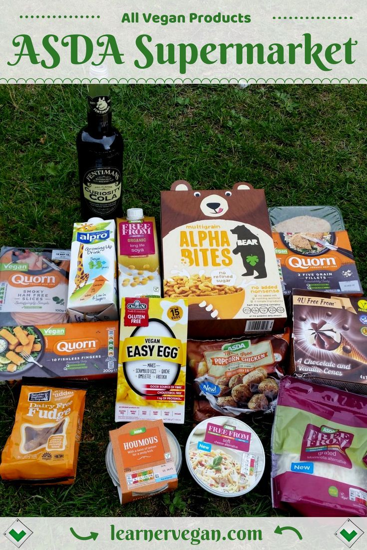 All Vegan Products From Asda Supermarket Uk Some Good And Easy Meal Ideas Here Fentiman S Cola Quorn Ham Vegan Supermarket Easy Vegan Meal Plan Quorn Vegan