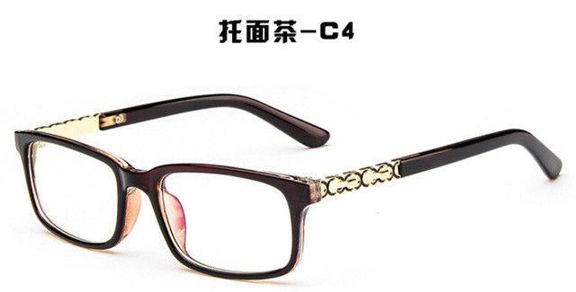 oculos de grau women's glasses frame for men optical frame eyewear Radiation Coating lens Square eyeglasses vintage new