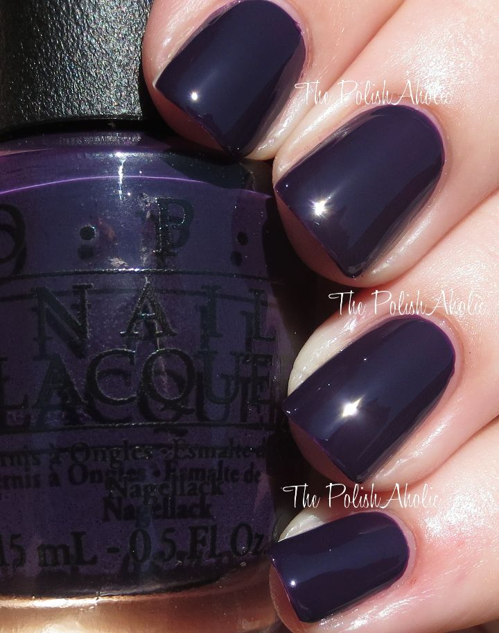 """OPI's """"Viking in a Vinter Vonderland"""" from its Fall 2014 Nordic Collection. Is it a deep rich purple or black? In the sunlight it looks purple, otherwise it looks black! Love this vibe!! Edgy, goth, elegant..."""