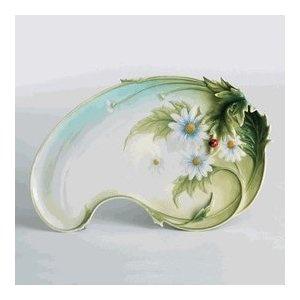 Franz Porcelain Ladybug Large Ornamental Platter
