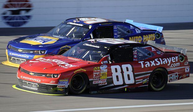 Jr and Chase Elliott finish in the top 5 at Vegas! http://www.pinterest.com/jr88rules/jr-motorsports-2014/