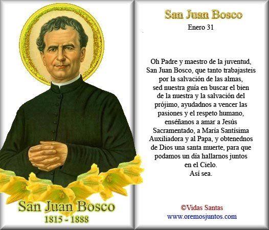 Rincón de la Oración: Estampas Oraciones de San Juan Bosco