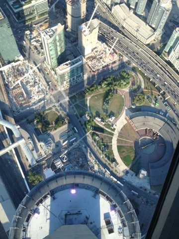 View from the CN Tower in Toronto Canada