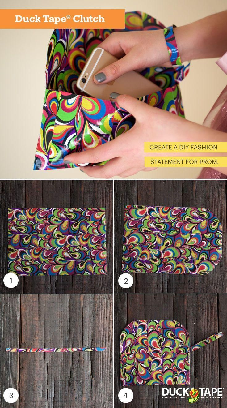 Check out this duct tape clutch for prom fashion inspiration. Create an accessory you can personalize with your favorite Duck® brand colors and prints. http://stuckatprom.com/inspiration/clutch/?utm_campaign=stuck-at-prom-general&utm_medium=social&utm_source=pinterest.com&utm_content=duct-tape-prom-fashion