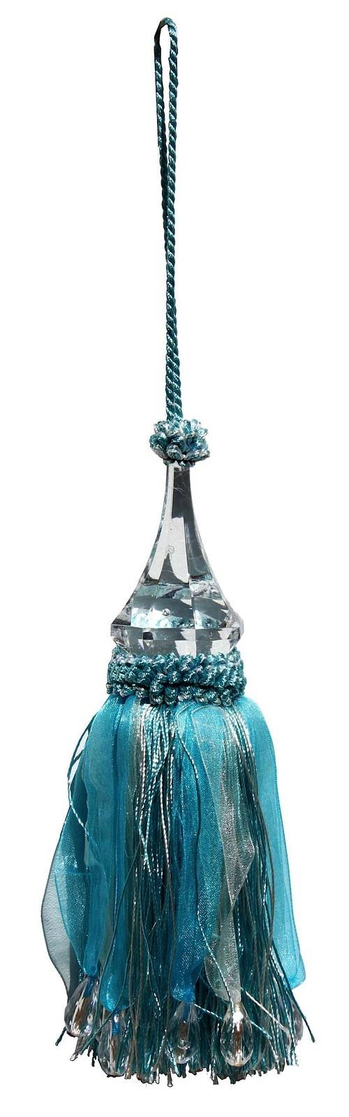Crystal Tassle - Blue/Cream by LaVida