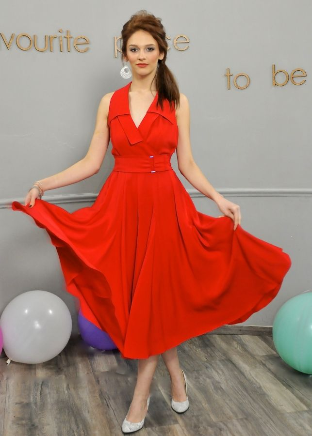 When love floats in the air and your heart goes wow! - Red Saint Tropez Dress - Colors of Love by Cristina Lepadatu