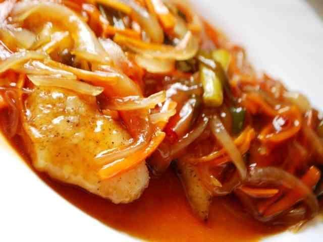 白身魚の甘酢あんかけの画像